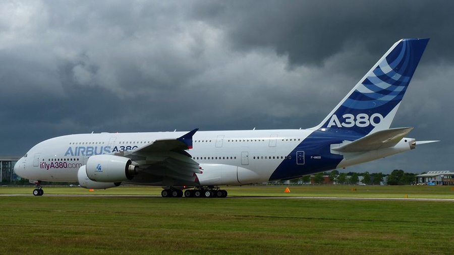 Farnborough Airshow Airbus A380