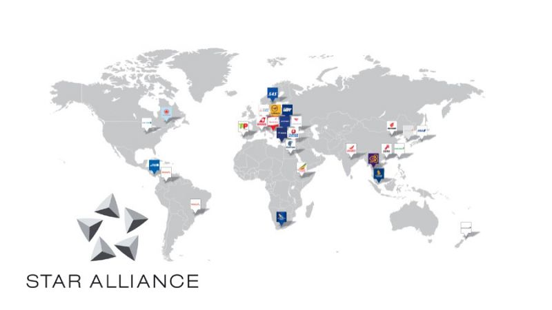 Star Alliance map